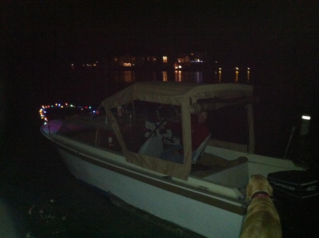 Morse Lake Winter Boat