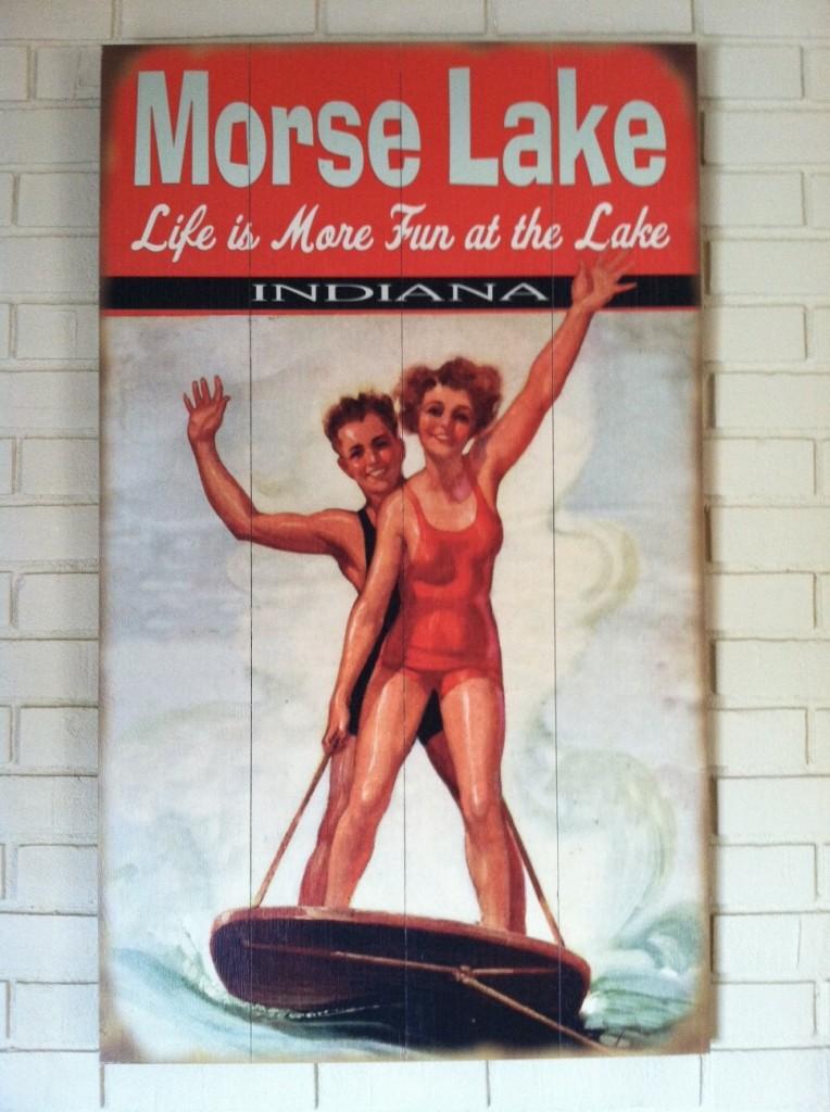 Morse Lake Vintage Sign